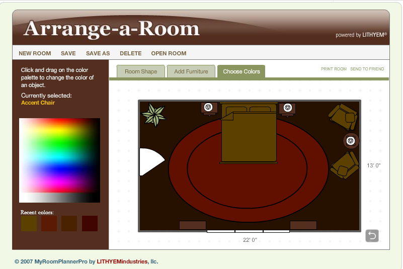 Arrange a room - App for arranging furniture in a room ...
