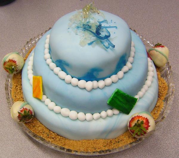 Student Beach Cake