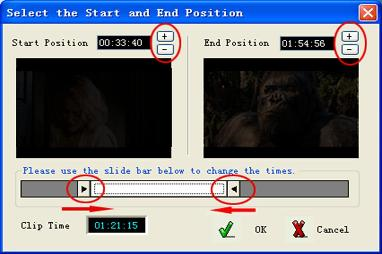 DVD Ripper Start and End Position