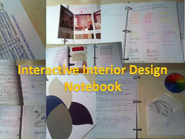 Interactive notebooks for Interior design lesson plans for high school