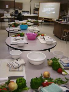 Knife Skills Classroom Setup